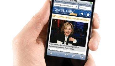 Ostbelgien Direkt auf Mobilgeräten Smartphones und Tablets