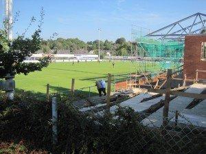 Der Ausbau des Kelmiser Stadions schreitet voran.