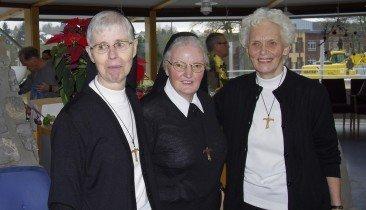 Ordensschwestern Franziskanerinnen Edmunda Monique und Marianne