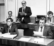 Kurt Ortmann als Ratspräsident in der zweiten Hälfte der 80er Jahre.