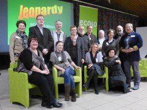 Mandatare von Ecolo beim Neujahrsempfang in Kettenis.