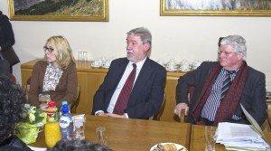 Die Verantwortlichen der Eupener Justiz hatten der Ministerin einiges mitzuteilen. Foto: Gerd Comouth
