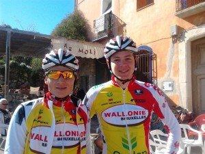 Christian Patron (links, hier mit Olivier Chevalier) gehört dem Team Wallonie-Bruxelles Crédit Agricole an.