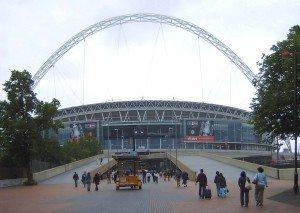 Das Londoner Wembley-Stadion ist Schauplatz des deutsch-deutschen Endspiels. Foto: Wikipedia