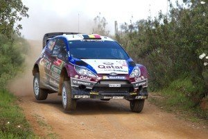 Thierry Neuville in seinem Ford Fiesta. Foto: dpa