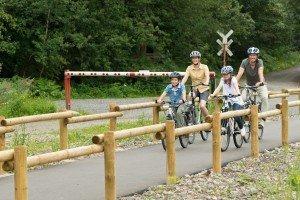 Der Radtourismus ist für Ostbelgien sehr wichtig: Die Vennbahnroute ist mit ihren moderaten Höhenunterschieden  ideal für den Familienausflug per Rad. Foto: vennbahn.eu