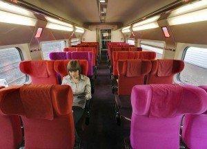 Blick ins Interieur eines Thalys-Zuges (2. Klasse). Foto: Wikipedia