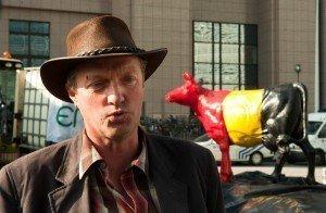 Erwin Schöpges 2009 bei einer Bauernkundgebung vor dem Gebäude der EU-Kommission in Brüssel. Foto: Belga