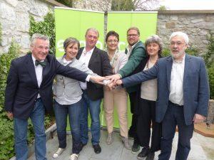 Erwin Schöpges (3.v.l.) mit anderen Europakandidaten von Ecolo. Foto: OD