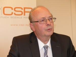 Robert Nelles am Freitag bei der Pressekonferenz der CSP. Foto: OD
