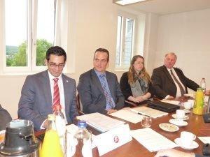 V.l.n.r.: Antonios Antoniadis, Oliver Paasch, Isabelle Weykmans und Karl-Heinz Lambertz. Foto: OD