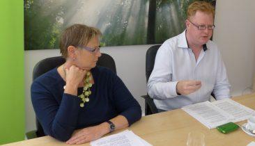 Die beiden PDG-Mitglieder von Ecolo, Franziska Franzen und Freddy Mockel. Foto: OD