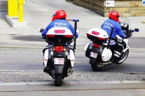 Die Motorradstaffel der Polizeizone Weser-Göhl kommt für den Besuch von Bundespräsident Joachim Gauck und des belgischen Königspaares in Eupen wie gerufen. Foto: Gerd Comouth