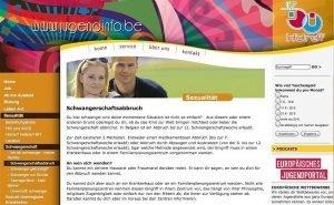 Auf der Website www.jugendinfo.be finden junge Menschen Informationen zum Thema Schwangerschaftsabbruch.