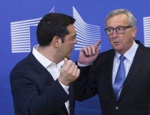 Der griechische Ministerpräsident Alexis Tsipras (links) und der Präsident der EU-Kommission, Jean-Claude Juncker. Foto: dpa