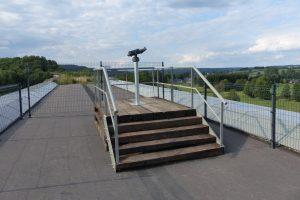 Das Fernrohr auf der Borner Brücke. Foto: OD