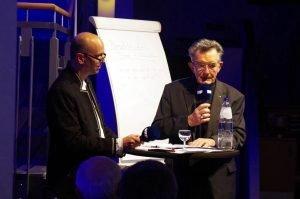 """Auch Altbischof Aloys Jousten kam im Rahmen des """"Open Space"""" zu Wort. Foto: Gerd Comouth"""
