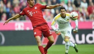 Thomas Müller (links, Archivbild) brachte Bayern schon in der 6. Minute in Führung. Foto: dpa