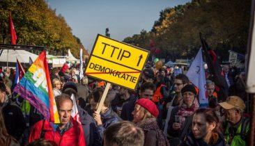 Eine Kundgebung gegen TTIP in Berlin. Foto: Shutterstock