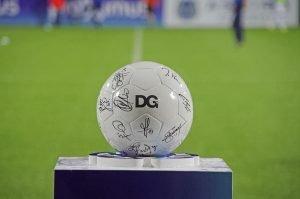 Der Spielball des Spiels der AS gegen Lommel am Tag der DG 2014. Foto: Grégoire Derouaux