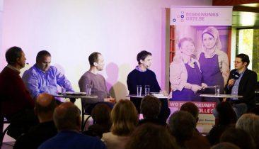 Die Diskussionsteilnehmer (v.l.n.r.): Rudi Schroeder, Achim Meyer, Boris Kartheuser, Lutz Bernhardt und Moderator Olivier Krickel. Foto: Gerd Comouth