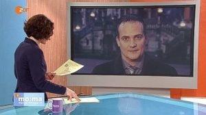 Oliver Paasch, aus Aachen zugeschaltet, bei dem Live-Interview im ZDF-Morgenmagazin am Freitagmorgen. Foto: Screenshot