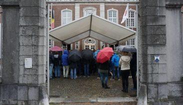 Am Sonntag war beim Eupen Musik Marathon der Regenschirm angesagt. Foto: ehu