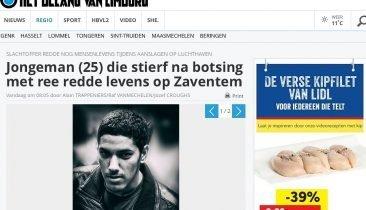 Auszug aus einem Artikel der Zeitung Het Belang van Limburg.