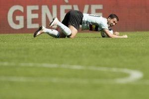 Eden Hazard, Kapitän der Roten Teufel (hier beim Spiel in der Schweiz). Foto: epa