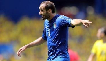 Giorgio Chiellini erzielte das 1:0 für Italien. Foto: Shutterstock