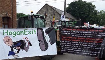 """HoganExit"": Landwirte fordern, dass EU-Kommissar Phil Hogan ""fliegt""."