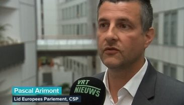Der ostbelgische EU-Abgeordnete Pascal Arimont im VRT-Fernsehen. Foto: Screenshot VRT