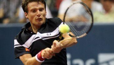 Der St. Vither Tennisprofi Yannik Reuter. Foto: Belga