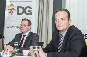 PDG-Präsident Alexander Miesen (links) und Ministerpräsident Oliver Paasch. Foto: Gerd Comouth