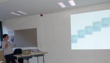 Sabrina Sereni von der Autonomen Hochschule erläuterte am Dienstag die Ergebnisse der DG beim PISA-Test. Foto: OD