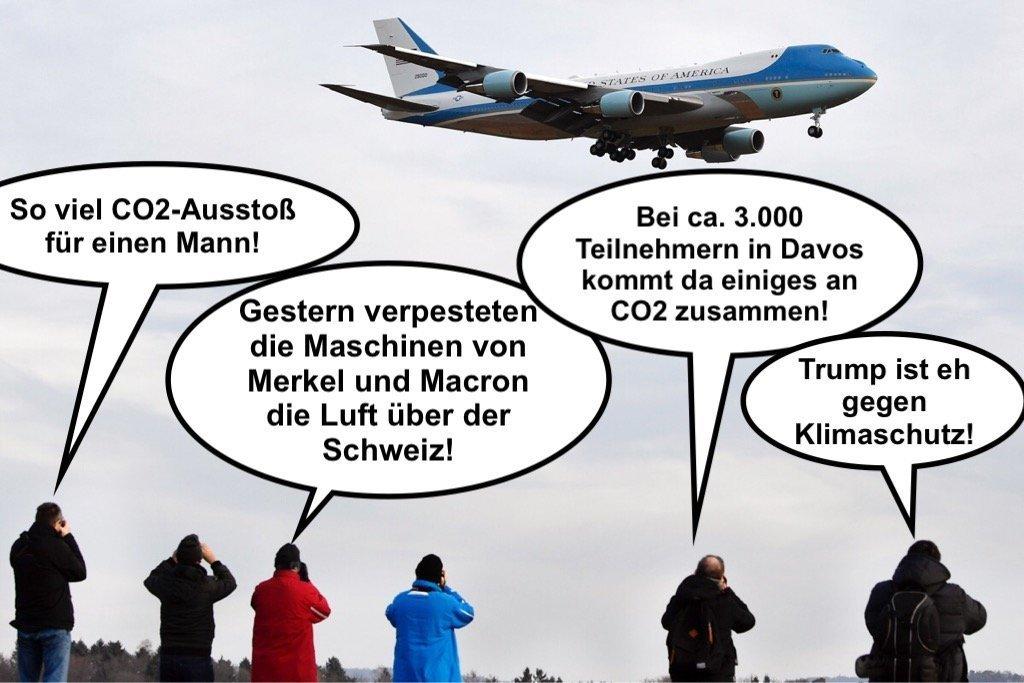 Alles Nur Satire Donald Trump Und Der Co2 Ausstoss Von Davos
