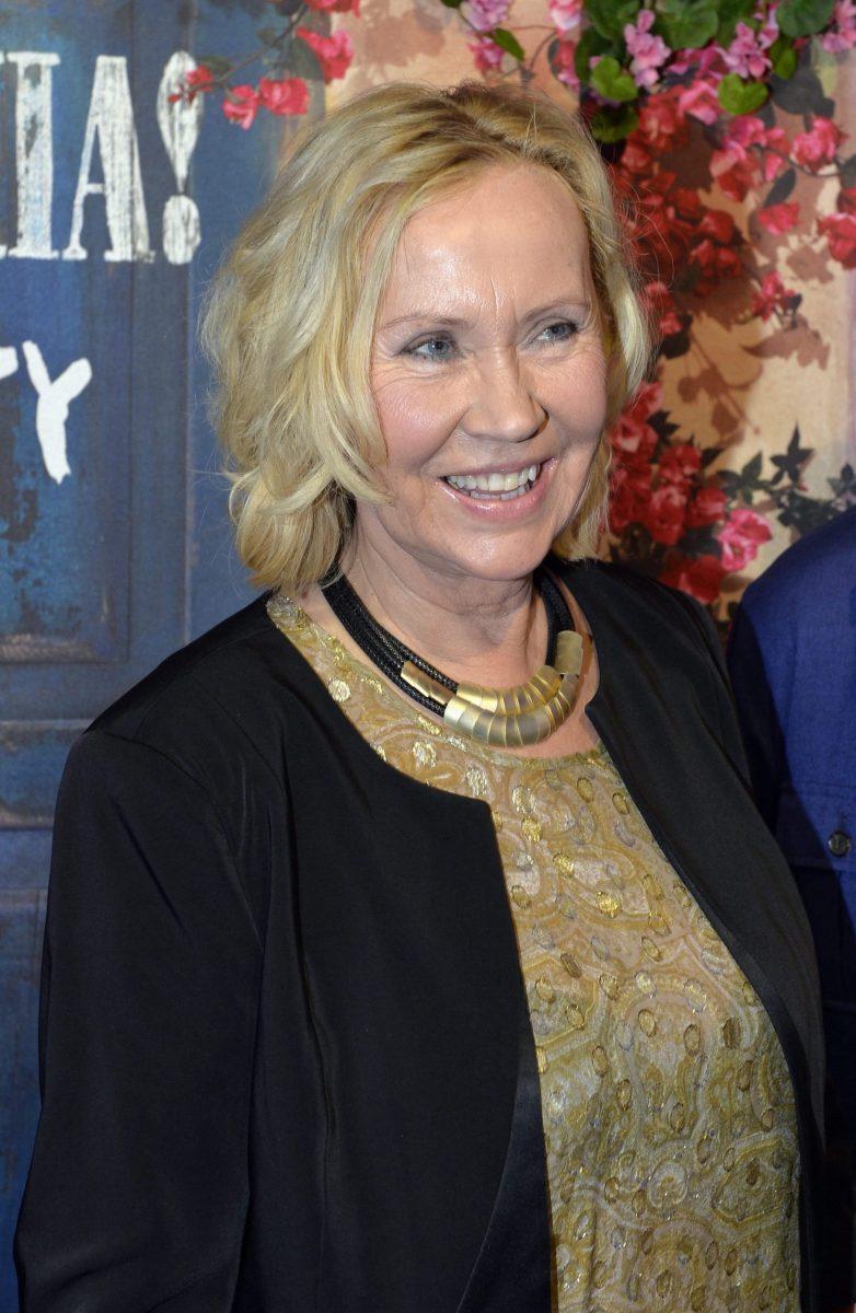 Agnetha Fältskog, die kesse Blonde der schwedischen Popgruppe Abba ...